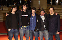 SNOW PATROL.Red Carpet Arrivals at the Brit Awards 2005,.Earls Court 2, London, February 9th 2005..half length.Ref: PL.www.capitalpictures.com.sales@capitalpictures.com.©Capital Pictures.