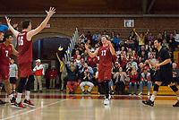 STANFORD, CA - March 10, 2018: Eli Wopat, Matt Klassen at Burnham Pavilion. The Stanford Cardinal lost to UC Irvine, 3-0.