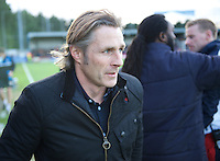 Manager Gareth Ainsworth of Wycombe Wanderers during the Sky Bet League 2 match between AFC Wimbledon and Wycombe Wanderers at the Cherry Red Records Stadium, Kingston, England on 21 November 2015. Photo by Alan  Stanford/PRiME.