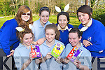Students from St Brigids, Killarney who participated in the Easter Egg hunt in aid of Crumlin Children's hospital, Dublin in Killarney National Park last Thursday front row l-r: Cammy Kelliher, Zoe O'Sullivan, Zoe McHale. Back row: Madeline Webb, Claire Moynihan, Inma Ojeda and Sinead Nagle..