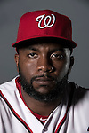 VIERA, FL-  FEBRUARY 24:  Outfielder Denard Span poses for a portrait during the Washington Nationals Spring Training at Space Coast Stadium in Viera, FL (Photo by Donald Miralle) *** Local Caption ***