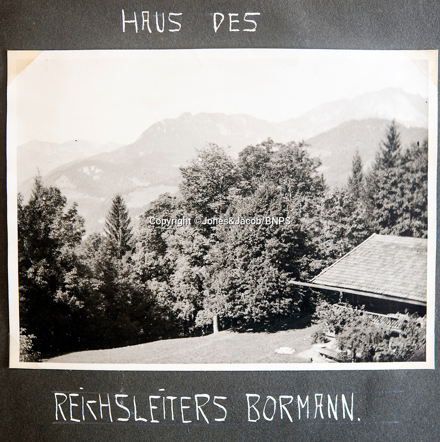 BNPS.co.uk (01202 558833)<br /> Pic: Jones&Jacob/BNPS<br /> <br /> Martin Bormann's house in Berchtesgaden.<br /> <br /> Springtime for Hitler...Chilling album of pictures taken by one of Hitlers bodyguards illustrates the Nazi dictators rise to power.<br /> <br /> An unseen album of photographs taken by a member of Hitlers own elite SS bodyguard division in the years leading up to the start of WW2.<br /> <br /> The 1st SS Panzer Division 'Leibstandarte SS Adolf Hitler' or LSSAH began as Adolf Hitler's personal bodyguard in the 1920's responsible for guarding the Führer's 'person, offices, and residences'.