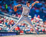 30 July 2017: Colorado Rockies pitcher Chris Rusin on the mound against the Washington Nationals at Nationals Park in Washington, DC. The Rockies defeated the Nationals 10-6 in the second game of their 3-game weekend series. Mandatory Credit: Ed Wolfstein Photo *** RAW (NEF) Image File Available ***