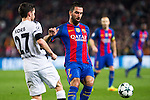 VfL Borussia Monchengladbach's Julian Korb, FC Barcelona's Arda Turan  during Champions League match between Futbol Club Barcelona and VfL Borussia Mönchengladbach  at Camp Nou Stadium in Barcelona , Spain. December 06, 2016. (ALTERPHOTOS/Rodrigo Jimenez)