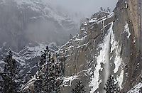 20021220 -- .Michael McCollum.Iconic Yosemite Falls in winter , in spectacular Yosemite National Park.