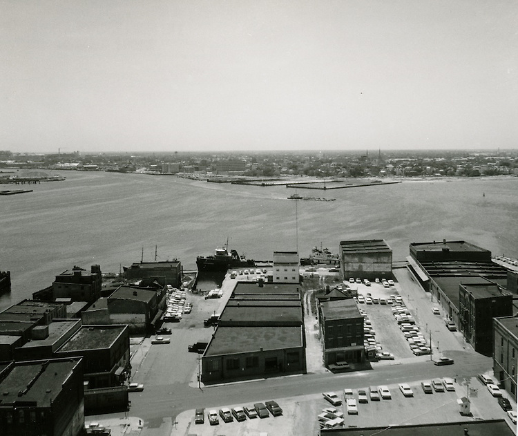 1964  May  05..Norfolk Waterfront looking toward Portsmouth...HAYCOX - R. V. Fishbeck.NEG# 64-485-12.3280..