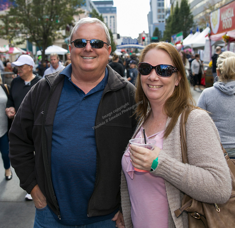 Jamie and John during the Italian Festival held in downtown Reno outside of the Eldorado Hotel and Casino on Sunday afternoon, October 7, 2018.