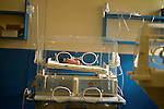 A 27-week premature baby in an incubator at Kibuye Hospital, Karongi District, Western Rwanda