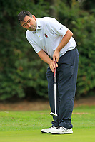 Stephen Moloney (Castletroy) on the 17th green during the AIG Barton Shield Munster Final 2018 at Thurles Golf Club, Thurles, Co. Tipperary on Sunday 19th August 2018.<br /> Picture:  Thos Caffrey / www.golffile.ie<br /> <br /> All photo usage must carry mandatory copyright credit (© Golffile   Thos Caffrey)