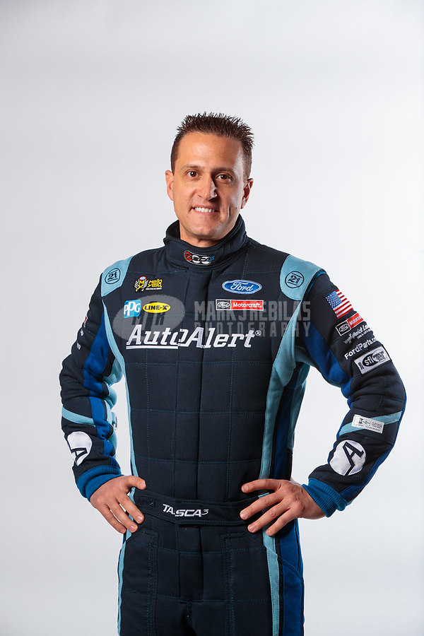 Feb 6, 2019; Pomona, CA, USA; NHRA funny car driver Bob Tasca III poses for a portrait during NHRA Media Day at the NHRA Museum. Mandatory Credit: Mark J. Rebilas-USA TODAY Sports