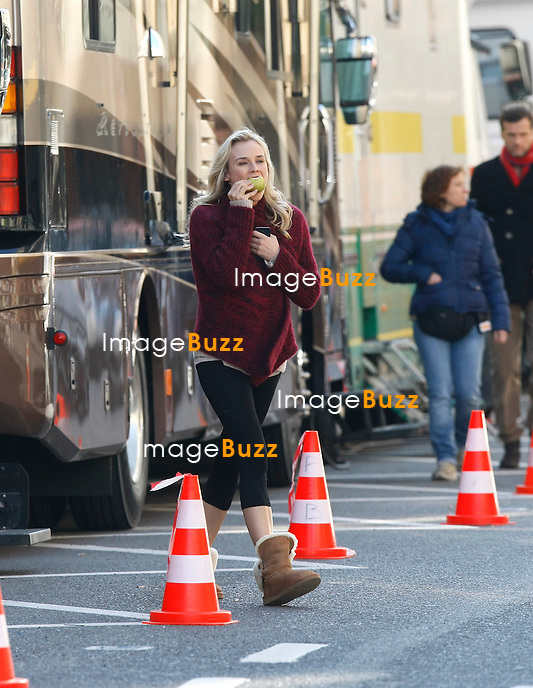 "Diane Krueger pictured on the movie set in Brussels :  "" Fly Me to the Moon ""..Brussels, October 24 th, 2011..EXCLUSIEVE PHOTOS.NO USA!................"