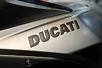 A Ducatimotorcycle is see during the International motorcycle show in New York, United States. 18/12/2013. Photo by Kena Betancur/VIEWpress.