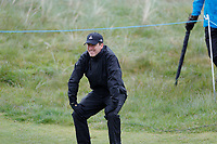 Anton Du Beke sees his chip shot stop on the lip of the hole during the Hero Pro-am at the Betfred British Masters, Hillside Golf Club, Lancashire, England. 08/05/2019.<br /> Picture David Kissman / Golffile.ie<br /> <br /> All photo usage must carry mandatory copyright credit (© Golffile | David Kissman)