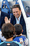 Real Sociedad's coach Eusebio Sacristan during La Liga match. August 21,2016. (ALTERPHOTOS/Acero)