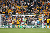Wolverhampton Wanderers Raul Jimenez scores the opening goal of the game during Wolverhampton Wanderers vs Burnley, Premier League Football at Molineux on 16th September 2018