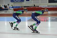 SPEED SKATING: SALT LAKE CITY: 21-11-2015, Utah Olympic Oval, ISU World Cup, training, Yvonne Nauta (NED), Annouk van der Weijden (NED), ©foto Martin de Jong