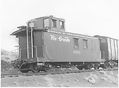 Long caboose #0503 with boxcar USA 750003.<br />   ca 1949-1950