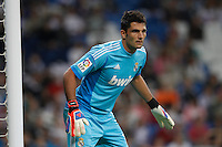 26.09.2012 SPAIN - Real Madrid and Millonarios played  for the 34th Santiago Bernabéu Trophy. The score at was 8-0 with three goals from Kaká, Morata (2), Callejon (2) and Benzema (1). The picture show Antonio Adan Garrido (Spanish goalkeeper Real Madrid)