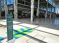 The long awaited day that non-essential retail shops can re-open for business in the UK.  For the first time since the Coronavirus Pandemic lockdown, both the Intu Shopping Centre and centre:mk opened with social Distancing, queuing, one way systems around the shopping centres in Milton Keynes, UK June 15th 2020<br /> <br /> Photo by Keith Mayhew