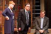 "Charlotte Lucas as ""Claire Sutton"", Richard McCabe as ""Jim Hacker, Prime Minister"" and Chris Larkin as ""Bernard Woolley"". Yes, Prime Minister by Antony Jay & Jonathan Lynn opens at the Apollo Theatre in Shaftesbury Avenue with Simon Williams as Sir Humphrey Appleby and Richard McCabe as Jim Hacker, Prime Minister."