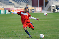 Jermaine Jones of the United States (USA) men's national team during a practice session at PPL Park in Chester, PA, on October 11, 2010.