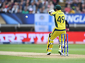 June 10th 2017, Edgbaston, Birmingham, England;  ICC Champions Trophy Cricket, England versus Australia; Steve Smith of Australia prepares to pull the ball
