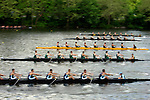 A view of the start while rowers compete during the 68th Dad Vail Regatta on the Schuylkill River in Philadelphia, Pennsylvania on May 12, 2006...............