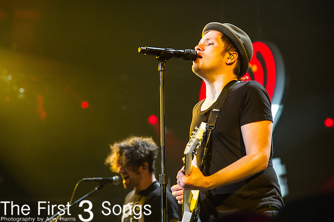 Patrick Stump of Fall Out Boy performs onstage during 93.3 FLZ's Jingle Ball 2014 at Amalie Arena on December 22, 2014 in Tampa, Florida.