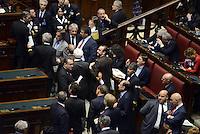 Roma, 18 Aprile 2013.Camera dei Deputati.Votazione del Presidente della Repubblica a camere riunite.Deputati e Senatori del PDL.Silvio Berlusconi