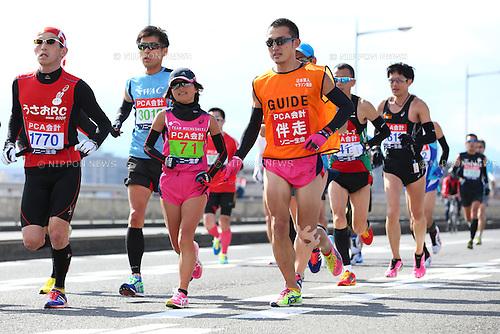Misato Michishita, <br /> FEBRUARY 7, 2016 - Marathon : <br /> The 65th Beppu Oita Mainichi Marathon<br /> in Oita, Japan. <br /> (Photo by Yohei Osada/AFLO SPORT)