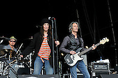PATTI SMITH performing live with guitarist Lenny Kaye on Day 2 on the Main Stage at the Hop Farm Music Festival in Paddock Wood Kent UK - 30 Jun 2012.  Photo credit: George Chin/IconicPix
