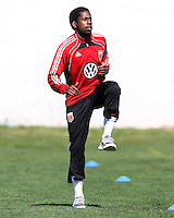 Clyde Simms#19 of D.C. United during a training session in Hapgood Stadium on the campus of the Citadel,on March 11 2011, in Charleston, South Carolina