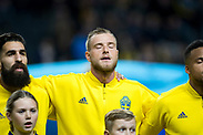 SOLNA, SWEDEN - OCTOBER 16: John Guidetti of Sweden ahead of the UEFA International Friendly match between Sweden and Slovakia at Friends Arena on October 16, 2018 in Solna, Sweden. Photo by David Lidstrom/LP<br /> ***BETALBILD***