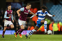 Queens Park Rangers' Eberechi Eze breaks away from Aston Villa's John Terry<br /> <br /> Photographer Andrew Kearns/CameraSport<br /> <br /> The EFL Sky Bet Championship -  Aston Villa v Queens Park Rangers - Tuesday 13th March 2018 - Villa Park - Birmingham<br /> <br /> World Copyright &copy; 2018 CameraSport. All rights reserved. 43 Linden Ave. Countesthorpe. Leicester. England. LE8 5PG - Tel: +44 (0) 116 277 4147 - admin@camerasport.com - www.camerasport.com