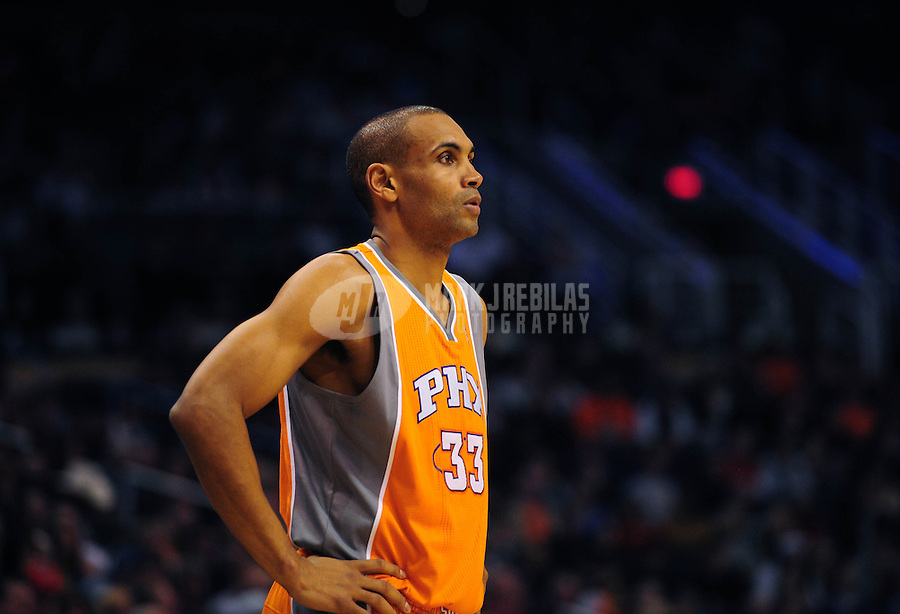 Dec. 26, 2011; Phoenix, AZ, USA; Phoenix Suns forward Grant Hill during game against the New Orleans Hornets at the US Airways Center. The Hornets defeated the Suns 85-84. Mandatory Credit: Mark J. Rebilas-USA TODAY Sports