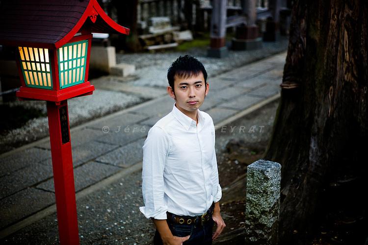 Tokyo, September 11 2011 - Portrait of Ryusuke Murata.