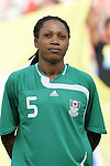 12 August 2008: Onome Ebi (NGA).  The women's Olympic team of Brazil defeated the women's Olympic soccer team of Nigeria 3-1 at Beijing Workers' Stadium in Beijing, China in a Group F round-robin match in the Women's Olympic Football competition.