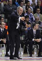 30.12.2012. Barcelona. Liga Endesa jornada 15. EN la foto Pablo Laso durante el partido entre EL FC Barcelona contra el Real Madrid en el Palu Blaugrana