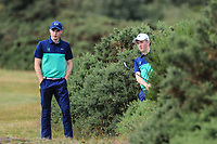 Mark Power and Aaron Marshell of Ireland during day 1 of the Boys' Home Internationals played at Royal Dornoch, Dornoch, Sutherland, Scotland. 07/08/2018<br />