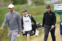 Tiger Woods (USA) and Byeong Hun An (KOR) walking off the 5th tee during the 3rd round of the US Open Championship, Pebel Beach Golf Links, Monterrey, Calafornia, USA. 15/06/2019.<br /> Picture Fran Caffrey / Golffile.ie<br /> <br /> All photo usage must carry mandatory copyright credit (© Golffile | Fran Caffrey)