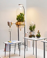 Drop By Drop, Pratik Ghosh, 2017<br /> Drop by drop is a water filtration system that uses plants to filter out contaminants such as nitrates, chlorine, pesticides, heavy metals and even bacteria. Recommended plants to be used in the filtration system are herbs as they can be easily grown indoors for consumption and the water procured has a scent that is pleasant to taste. The air that goes out of this system is primarily oxygen which enhances the room atmosphere.