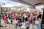 Large crowds gather for the launch of The Valentia Island King Scallop Festival on Saturday.