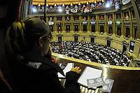 BUENOS AIRES, ARGENTINA, 03 DE MAIO DE 2012 - VOTACAO PROJETO DE LEI YPF - Congresso Nacional da Argentina, em Buenos, Aires, nesta quinta-feira. No local está sendo votado o projeto de lei, já aprovado pelo senado, para a expropriação da YPF da espanhola Repsol. Assim, a Yacimientos Petrolíferos Fiscales voltaria a ser estatal. (PHOTO: JUANI RONCORONI / BRAZIL PHOTO PRESS)
