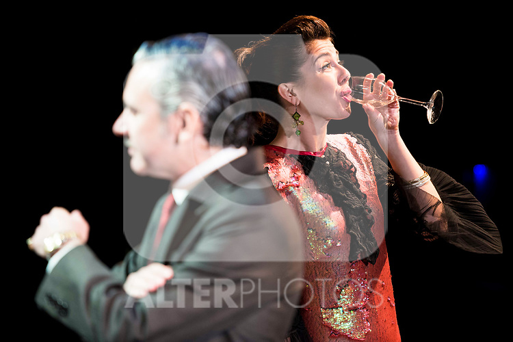 "Noemi Rodriguez and Jose Emilio Vera during the theater play of ""Addio del Passato"" at Fernan Gomez Theater in Madrid. March 15, 2017. (ALTERPHOTOS/Borja B.Hojas)"