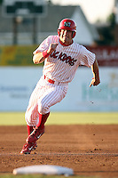 August 12th, 2007:  Tyler Henley of the Batavia Muckdogs, Short-Season Class-A affiliate of the St. Louis Cardinals at Dwyer Stadium in Batavia, NY.  Photo by:  Mike Janes/Four Seam Images