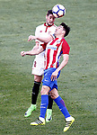 Atletico de Madrid's Nicolas Gaitan (r) and Sevilla FC's Sergio Escudero during La Liga match. March 19,2017. (ALTERPHOTOS/Acero)