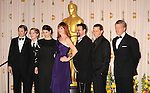 HOLLYWOOD, CA. - March 07: Presenters Matthew Broderick, Macauley Culkin, Ally Sheedy, Molly Ringwald, Judd Nelson, Jon Cryer, and Anthony Michael Hall pose in the press room at the 82nd Annual Academy Awards held at the Kodak Theatre on March 7, 2010 in Hollywood, California.
