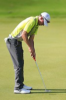 Paul Peterson (USA) on the 3rd green during Round 3 of the Maybank Malaysian Open at the Kuala Lumpur Golf & Country Club on Saturday 7th February 2015.<br /> Picture:  Thos Caffrey / www.golffile.ie