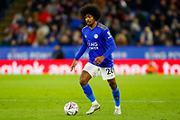 4th January 2020; King Power Stadium, Leicester, Midlands, England; English FA Cup Football, Leicester City versus Wigan Athletic; Hamza Choudhury of Leicester City on the ball - Strictly Editorial Use Only. No use with unauthorized audio, video, data, fixture lists, club/league logos or 'live' services. Online in-match use limited to 120 images, no video emulation. No use in betting, games or single club/league/player publications
