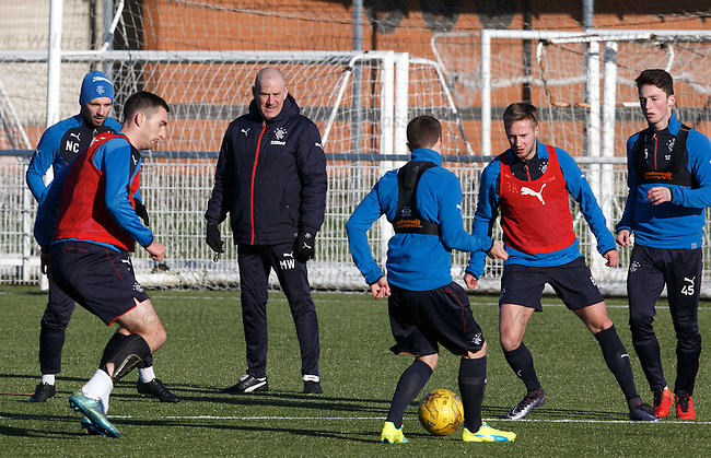 Mark Warburton pleased with the prep work on plastic ahead of Saturday's trip to Alloa